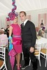 Jill Macken finalist at the Anthony Ryan's Best Dressed with former Irish Soccer Intertnational Jason McAteer in the Champagne tent at the Anthony Ryan's Best Dressed ladies day at the Galway. Photo:Andrew Downes