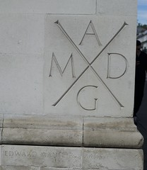 Memorial stone on the side of the Scottish Church (IanAWood) Tags: london streetphotography knightsbridge urbanlife summerinthecity walkingwithmynikon nikondf nikkorafs58mmf14g