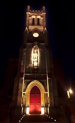 Saint John Banbury (Joe thabet) Tags: church night mother mary statue red door light low