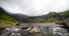 National Trust - Carneddau and Glyderau. Wales. (Robin Valk) Tags: national trust carneddau glyderau wales waterfall cloudy misty