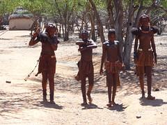 Girls Arriving at Village, Otjikandero Himba Village, Kunene, Namibia (HDR) (dannymfoster) Tags: africa namibia otjikandero himbavillage otjikanderohimbavillage people africanpeople himba girl himbagirl