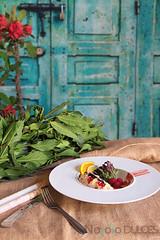 Ensalada de bogavante, cítricos y frutos rojos (No solo dulces) Tags: receta bogavante ensalada verano nochevieja vinagreta naranja frutosrojos frambuesa langosta nochebuena