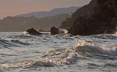 (felix.h) Tags: canoneos400d canon eos 400d digitalrebelxti eoskissdigitalx tokina5013528 tokina50135mm28 lepradet france coast shore coastline shoreline sea ocean mediterranean mediterraneansea summer evening landscape seascape water
