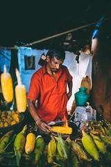 Corn Seller (Tom Abraham Dcruz) Tags: corn seller streets tamilnadu colors shop