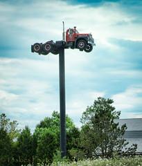 King Cab (HTT) (13skies) Tags: singleshothdr htt happytruckthursday thursday travel truck pole advertisement higher high parked parkedforaday longtime wheels kingcab trucking trip highway6 ontop