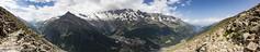 Saastal Panorama (Unliving Sava) Tags: wallis feegletscher saastal alps switzerland zomer 2016 valais alpen suisse summer tschhorn schweiz saasfee hiking allalinhorn mattmark alphubel zwitersland dom zwitserland mountains saasalmagell ch