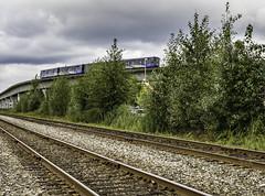 Contrasting Railways (Tony Tomlin) Tags: sky train skytrain transit bc bctransit burnaby condos tracks elevatedrailway