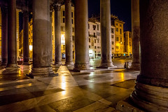 Night at the Pantheon (cpphotofinish) Tags: marcus agrippa square eos eos5dmk3 roma rome tourist turist travel usm image italy outdoor outside photo foto light lazio canon canonef canonredlable bilde mklll mk3 mark cpphotofinish italia carstenpedersen pantheon santangelo bridge via del corso streetphoto street ef24105mmf4lisusm night nightphoto