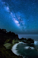 McWay Milky Way (danielricardo771) Tags: 2013 june mcwayfalls bigsur california canon centralcalifornia coast dark galexy longexposure milkyway ocean pacific photography pictures southerncalifornia starrynight stars tobyharriman