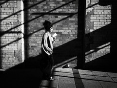 DSCF8647 (Neil Johansson LRPS) Tags: fuji fujifilm fujifilmx30 x30 black white blackandwhite monochrome noir bw filmnoir light dark shadows urban urbanwales urbanphotography streetphotography photo photograph photography digital landscape figure individual person wrexham wrecsam northwales wales uk cymru