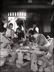 Wood Carving (ookami_dou) Tags: vintage japan  yokohama  woodwork woodcarving wood occupational tenami enami