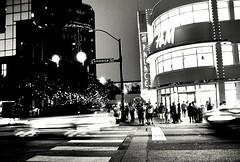 Crossing Commerce (photo.po) Tags: blackandwhite night nightphotography street streetphotography canon canong10 canongseries