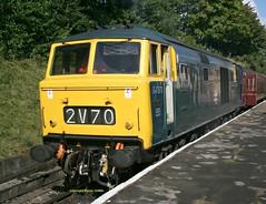 D7076 at Bury ELR Sept 2016 (Ado Griff) Tags: d7076 class35 beyerpeacockhymektype3 maybach dieselhydraulic boltonststationbury elr