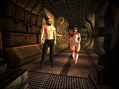 Together, or not at all (sanctussinful) Tags: secondlife doom doomed ship white circle thomas aquilas grumnir skrcha zombies horror undead blood feline space spaceship event horizon scifi