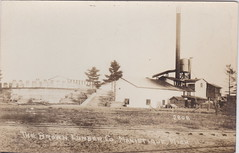 """UP Manistique MI RPPC c.1910 THE BROWN LUMBER MILL Saw Mill Works Powerhouse Large Drying Kilns off the the right served by the Manistique & Lake Superior Railroad M&LS Photographer UNK (UpNorth Memories - Donald (Don) Harrison) Tags: vintage antique postcard rppc """"don harrison"""" """"upnorth memories"""" upnorth memories upnorthmemories michigan history heritage travel tourism """"michigan roadside restaurants cafes motels hotels """"tourist stops"""" """"travel trailer parks"""" campgrounds cottages cabins """"roadside entertainment"""" """"natural wonders"""" attractions usa puremichigan"""