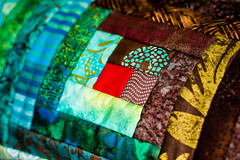 """Log Cabin"" (Charo R.) Tags: patchwork almazuela tela fabrics quilt"