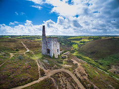 Cornish Engine House (5 of 12).jpg (360 Gigapix) Tags: enginehouse drone landscape stagnes porthtowan cliffs tinminesearialshots cornishgranite seascape pumphouse cornwall fromabove chimney