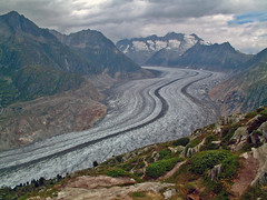 il Grosser Aletschgletscher da Moosfluh (2335 m) (ceszij) Tags: aletsch ghiacciaio glacier ghiaccio