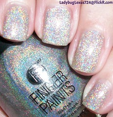 Finger Paints Holographic Top Coat (ladybuglexus724) Tags: purple nail polish lacquer pink red holographic opi orly china glaze revlon finger paints