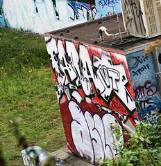 graffiti amsterdam (wojofoto) Tags: amsterdam graffiti streetart nederland holland netherland wojofoto wolfgangjosten westerpark ill omb asle farao