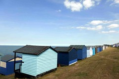 Beach huts (cure di marmo) Tags: beach seaside whitstable england blue sunny clouds
