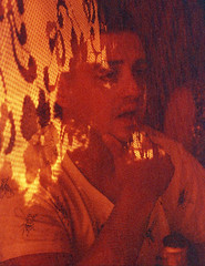 Old Lace Curtain (Magnus Bergström) Tags: lomography redscale xr lomographyredscalexr film 135 35mm canonae1 canon ae1 analog color colour portrait sweden värmland sverige wermland sunnemo hagfors double exposure doubleexposure multipleexposure multiple jonmos00