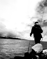 Stormy Skies (taili.tang) Tags: storm sea southampton solent isleofwight sailing yacht boat horizon blackandwhite skies people silhouette