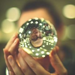 345 | 365 (Randomographer) Tags: selfportrait man glass ball crystal magic denver human refraction 365 selfie project365 365days rslphotography