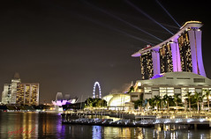 Marina Bay Sands, Singapore (sydbad) Tags: show marina canon bay is singapore casino resort laser l usm sands ef f4 24105mm eos60d