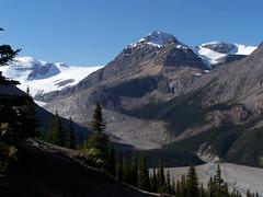 Peyto Lake Glacier (imageseekertoo (Wendy Elliott)) Tags: snow canada mountains landscape rockies rocky glacier