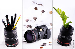 Canon bank money (Fahad Al-Robah) Tags: camera blue money canon lens coin photographer propaganda culture photographers bank announcement pot products pens moneybox  a