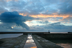Seaham harbour at sunrise. (paul downing) Tags: docks sunrise canon 350d spring harbour northsea seaham pdp coastaluk pd1001 pauldowning