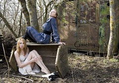 [Sisters.] (Gaietty) Tags: wood morning trees girls two portrait sky people woman pet white selfportrait colour tree green art feet me broken nature girl beauty face field grass animal wall lady female sisters forest cat self pose hair lost model eyes hands woods nikon day mood hand sad dress legs emotion skin artistic wind body sister bare faith goth bodylanguage posing down skirt location lips blonde barefeet language emotional emotions moods lithuania lithuanian feelings 2012 twogirls nikond40x gaietty