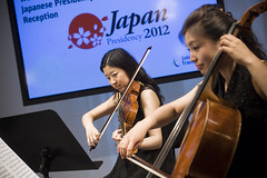Musicians perform at the Presidency Reception hosted by the Japanese Minister