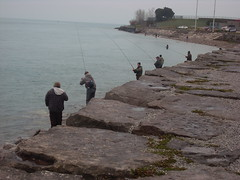 Fishing Competition 2 (doddy2791) Tags: lake fish canada men rain river point rocks edward trout huron lakehuron competiton pointedward