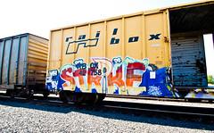 Strike (TheHarshTruthOfTheCameraEye) Tags: california train graffiti weed heads strike northern freight wh rtd railbox benching weedheads