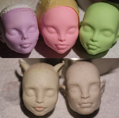 sculpt comparisons (Amber-Honey) Tags: monster high doll dragon witch cam gargoyle create comparison rochelle matel operetta repaint goyle