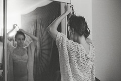 (zachmccaffree) Tags: portrait white black film girl monochrome analog 35mm mirror bedroom