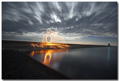HOT STEEL (_Val W) Tags: longexposure nightphotography water clouds nightimages lakeerie shorelines greatlakes moonrise beaches moonlight nightshots summertime blueskies goodtimes afterdark thebeach erieau pentaxk10d catchthelight valwest imgp3079