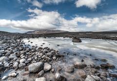 Iceland (vulture labs) Tags: travel light white black mountains colour reflection water clouds river landscape photography photo iceland highlands big nikon rocks exposure angle wide glacier nikkor hdr photomatix d700 1424mm vulturelabs