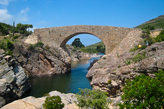 Pont gnois (Orpinbleu) Tags: canon flickr photos corse arches printemps ponts pontevecchio 2012 arche restauration fango granitrose pontgnois passerelles galria fangu hautecorse orpinbleu
