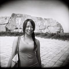 02 (bluetrayne) Tags: china people blackandwhite woman sexy female asian person holga lomo shanghai retro youthful  analogphotography  edgy