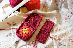 Magazine Slippers (laughingpurplegoldfish) Tags: crochet slippers