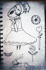 queen of hearts sketchbook doodles (heathermariecarr) Tags: illustration pen sketchbook doodles sketches 2012 aliceinwonderland lewiscarroll queenofhearts heathercarr xe3ep heatherunderground