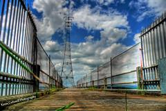 Electricity Estuary (AreKev) Tags: aust electricitymast electricity mast plyon severnestuary bristolchannel riversevern southgloucestershire england uk hdr panasonicdmctz3 photomatixpro tonemapped