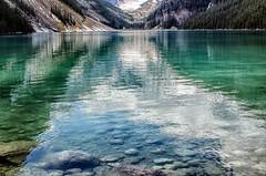 Canadian icon (PRS Images) Tags: lake reflection green water alberta banffnationalpark lakeluise