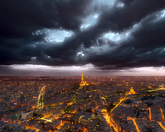 Clouds over Paris DSC0259 (MagnusL3D) Tags: city urban orange storm paris france color colour tower love weather architecture night clouds zeiss lights evening licht nikon europe raw cityscape tour nightshot capital eiffeltower eiffel best amour toureiffel fx montparnasse hdr eifelturm parisian cityoflights twillight 21mm parisien franreich paries pariz worlds shot  villedeparis parizo fluctuatnecmergitur distagont2821  bestcapturesaoi elitegalleryaoi mygearandme mygearandmepremium mygearandmebronze mygearandmesilver mygearandmegold d800e nikond800e
