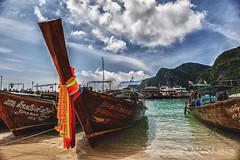 Phi-Phi-Island (Sadashiva T S) Tags: sea thailand island boat nikon longtailboat hdr krabi phiphiisland kophiphi andamansea d700 nikond700  islandsinindianocean