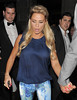 Katie Price leaving the launch party for website 'You Gossip', held at the Red Bar, Grosvenor House Hotel. London, England