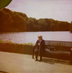 Grandma (-Midnight Sun) Tags: grandma portrait lake film bench polaroid person bradford reservoir instant polaroid600 instandfilm chellowdean